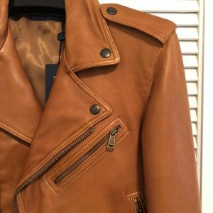 NEW Polo Ralph Lauren Leather Jacket, Size 4